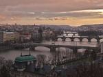 Večerní výhled na Prahu