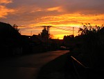 Západ slunce na dědině