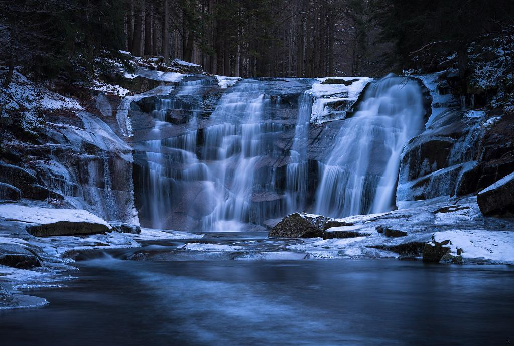 Mumlavský vodopád 31. 12. 2020