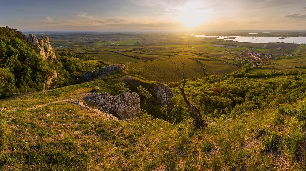 krajina jižní Moravy z Pálavských vršků