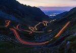 vysokohorská silnice přetínající pohoří Fagaraš