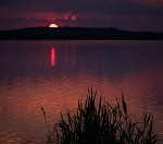 Západ slunce u Mušovských jezer