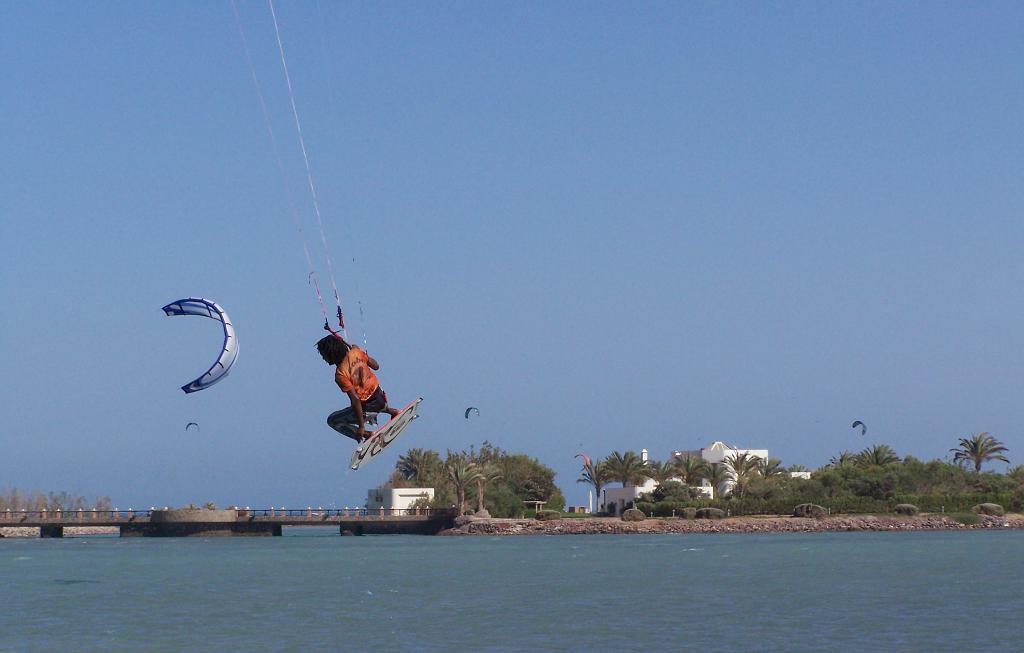 kiteboarding skok