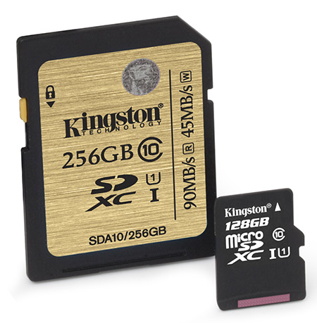 Kingston SDXC UHS-I 256GB a microSDXC UHS-I 128GB