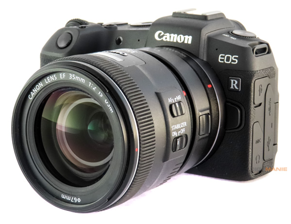 Canon EF 35mm f/2 IS USM na Canon EOS RP