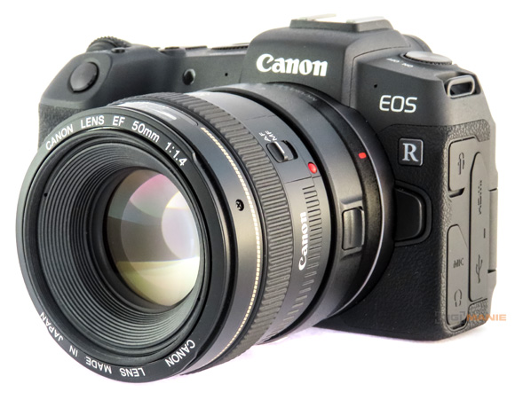 Canon EF 50mm f/1.4 USM na Canon EOS RP