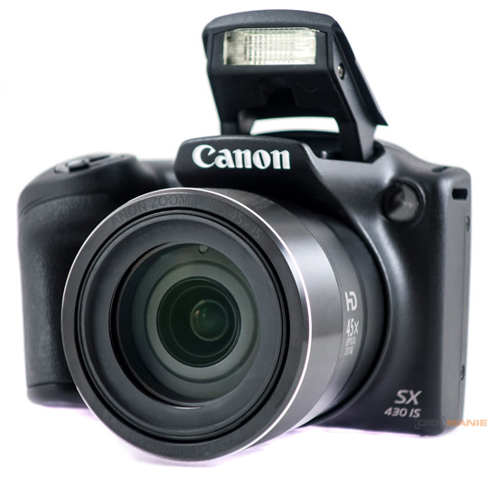 Canon PowerShot SX430 IS objektiv a blesk