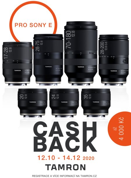 CASH BACK TAMRON SONY FE
