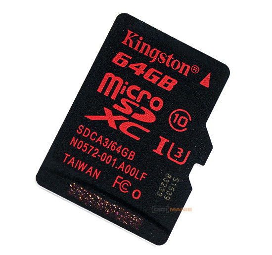 Kingston microSDXC UHS-I U3 64 GB 90R/80W SDCA3/64GB